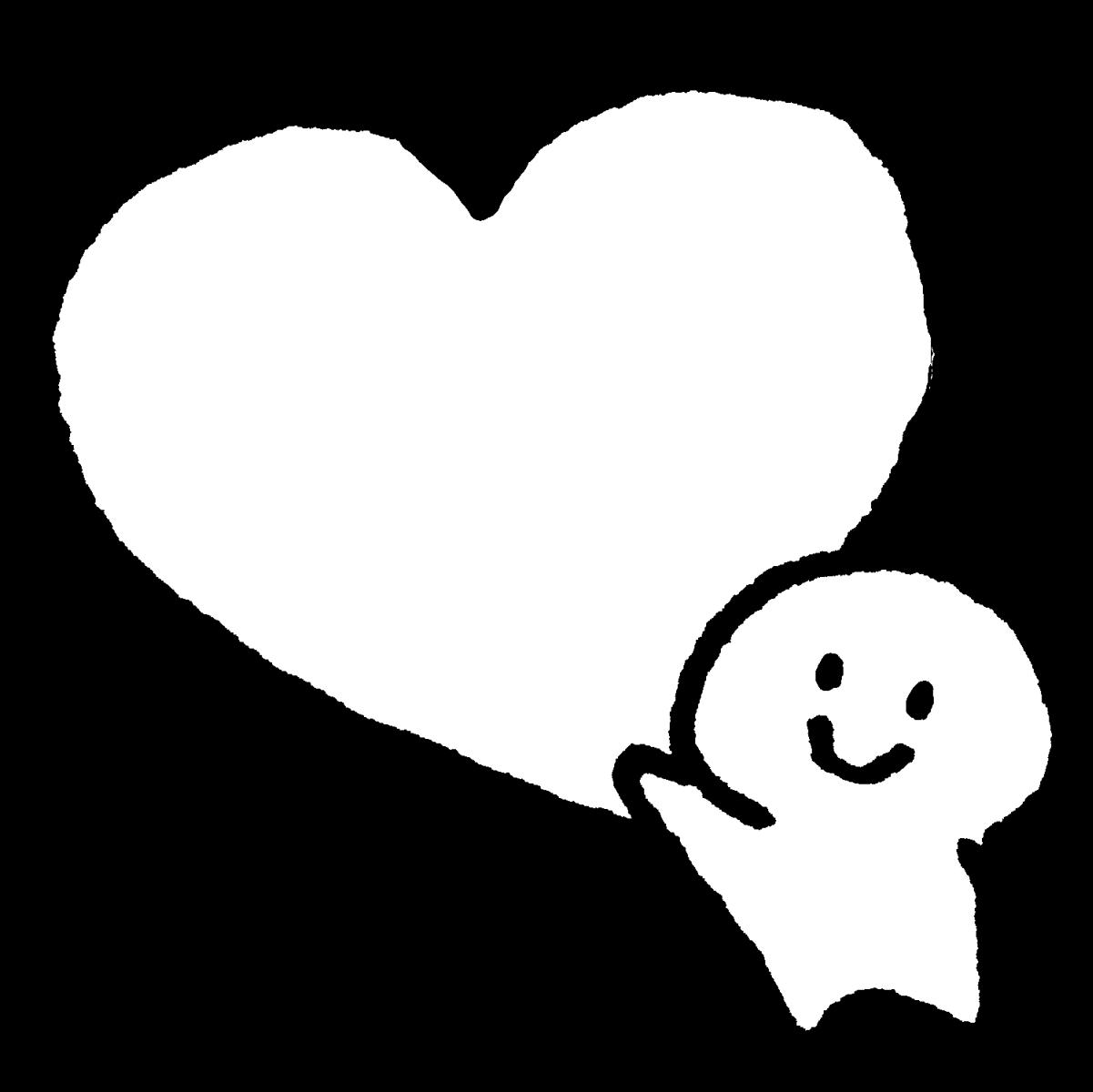 ハートを持ち上げるのイラスト / Lift the heart Illustration