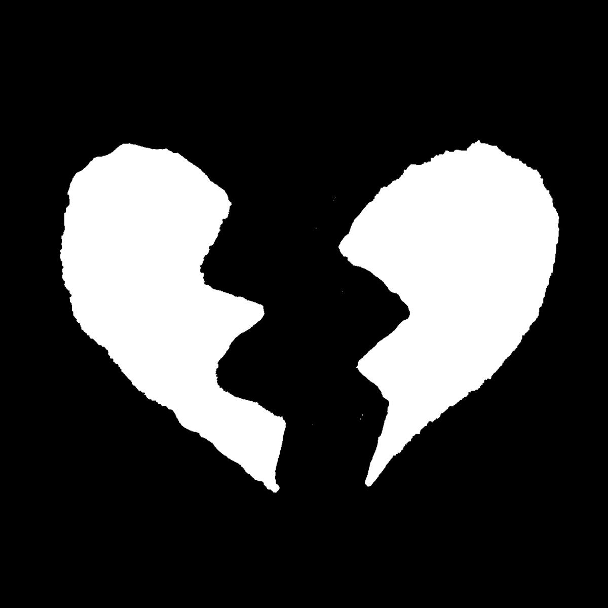 割れたハートのイラスト / Broken heart Illustration