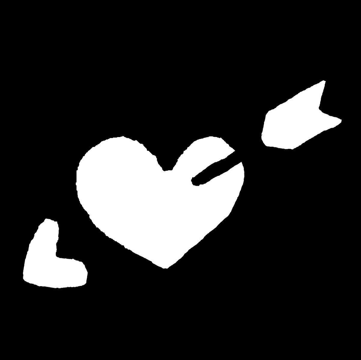 矢のささったハートのイラスト / Heart with an arrow in it Illustration