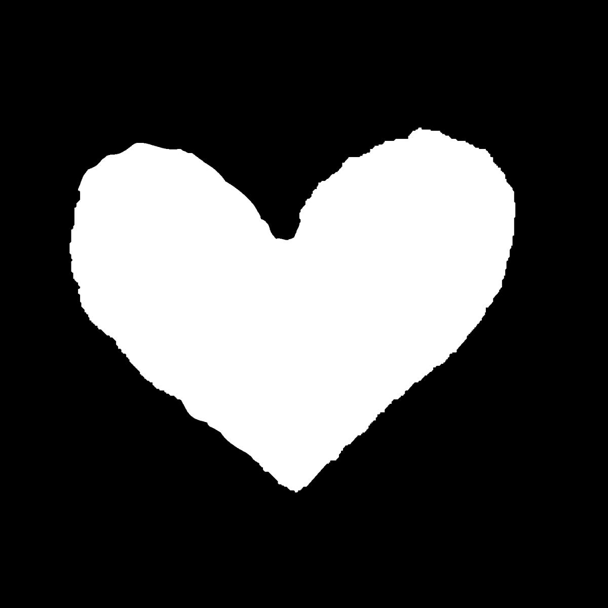 シンプルなハートのイラスト / Simple heart Illustration