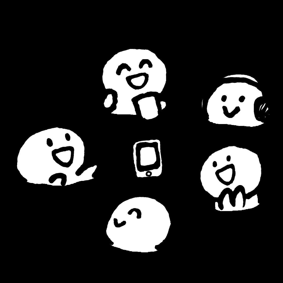 インターネットラジオのイラスト / Internet radio, Clubhouse Illustration