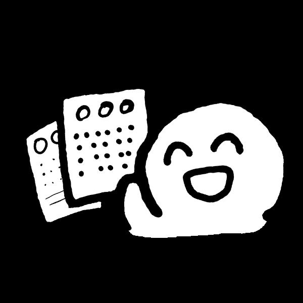 書類できた!のイラスト / I could make the documents! Illustration