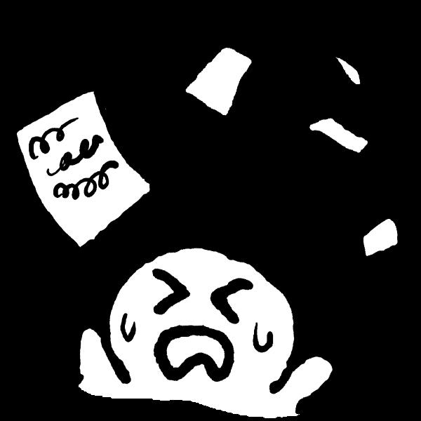 書類を投げ捨てるのイラスト / Throw away papers Illustration