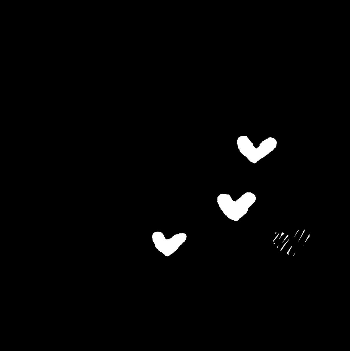 ハートの流れる音符のイラスト / Heart Flowing Notes Illustration