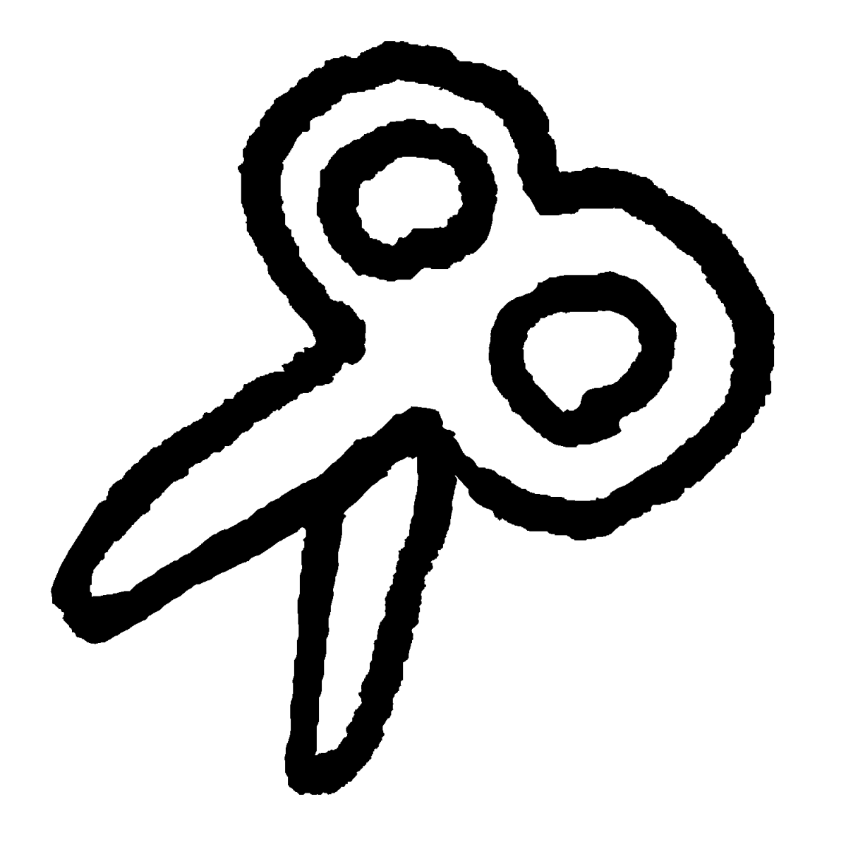 開いたハサミのイラスト / Open shears Illustration