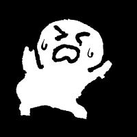 揺れに怯えるのイラスト / Be scared of earthquake Illustration