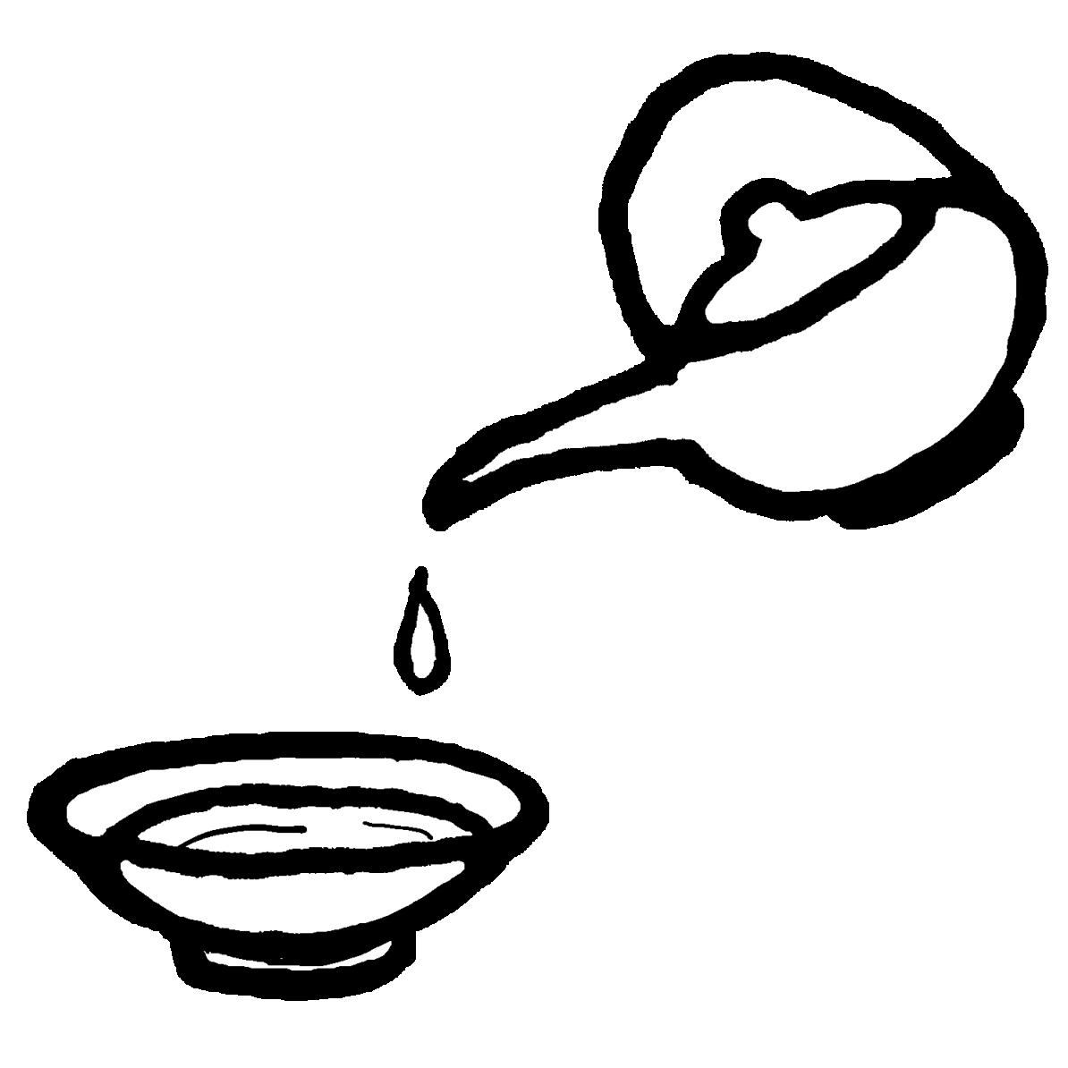 盃・お銚子セットのイラスト / Sake and Choshi Illustration