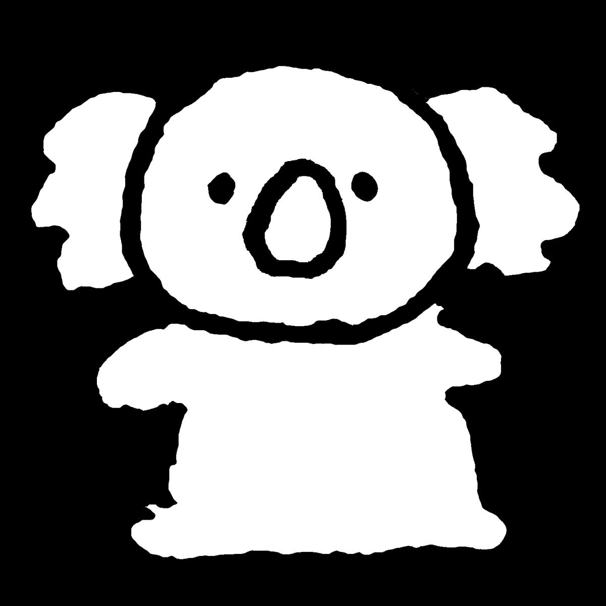 コアラ(2種)のイラスト / Koala Illustration