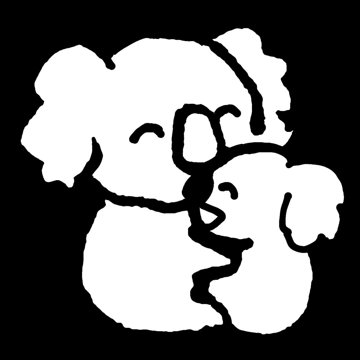 コアラの親子のイラスト / Koala family Illustration