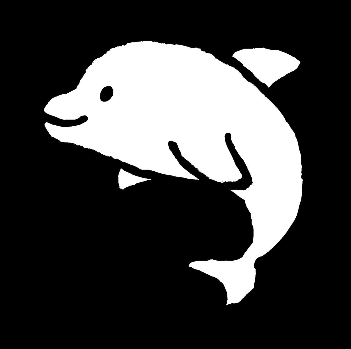 イルカ2のイラスト / Dolphin2 Illustration