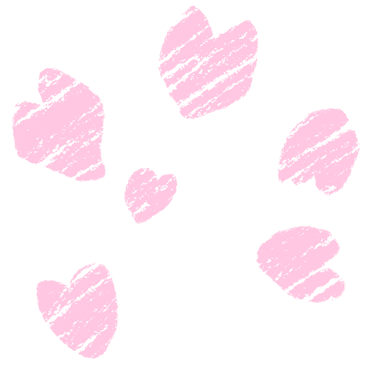 クレヨン塗り【桜の花びら】パステル 暖色セットのイラスト / Crayon Coloring [Cherry Blossom Petals] Pastel, warm Color Set Illustration
