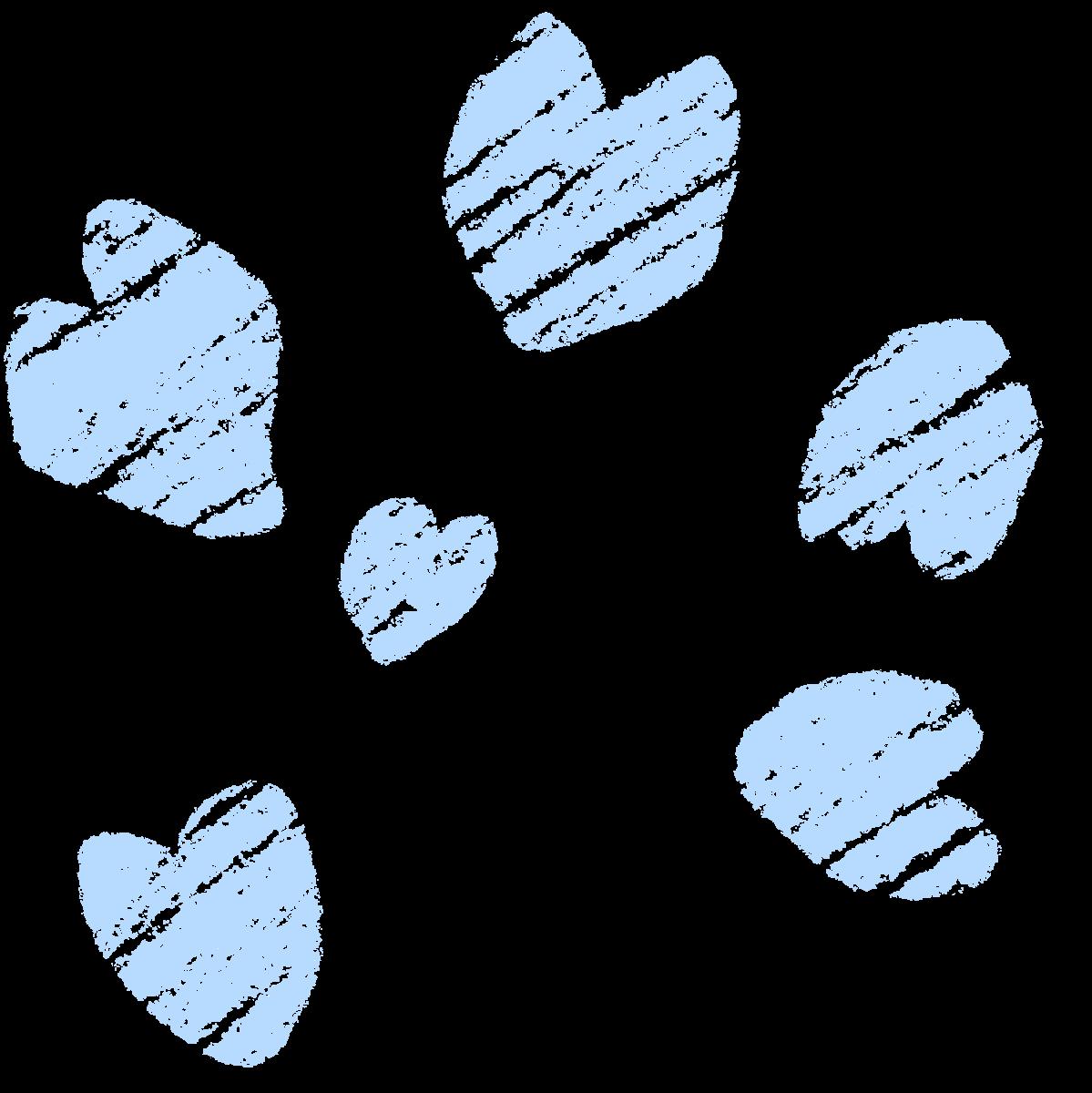 クレヨン塗り【桜の花びら】パステル 冷色セットのイラスト / Crayon Coloring [Cherry Blossom Petals] Pastel, Cold Color Set Illustration