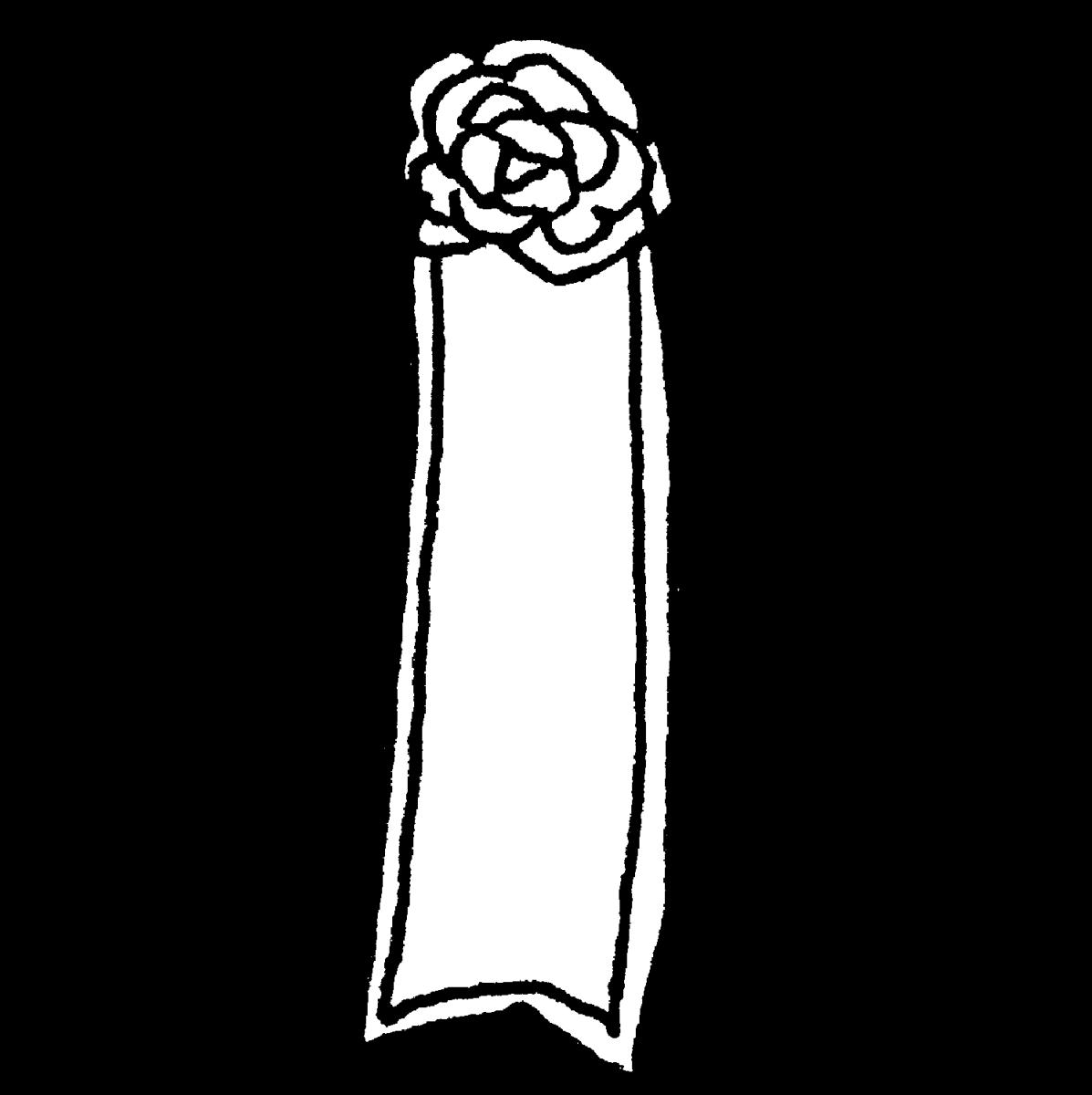 リボン胸章のイラスト / Ribbon chest Illustration