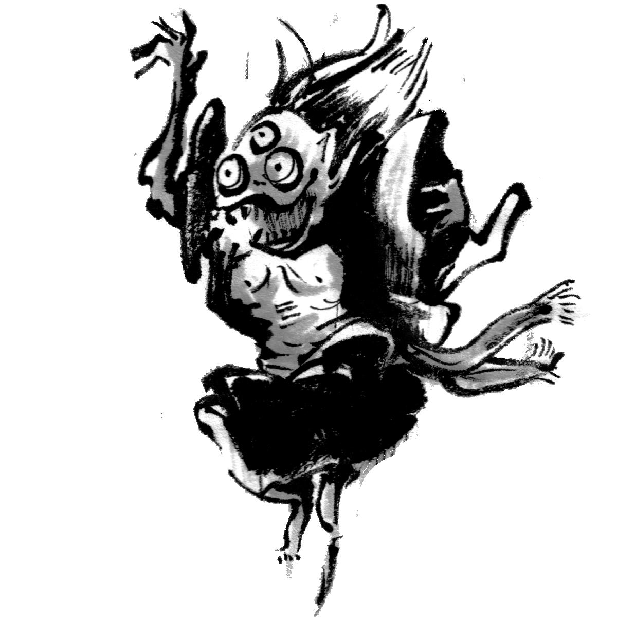 三つ目の妖怪のイラスト The third specter  Illustration